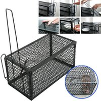Wholesale 2xRat Catcher Spring Cage Trap Humane Large Live Animal Rodent Indoor Outdoor patio Lawn Garden Supplies DHL Free