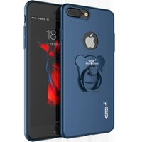 bear mobile phone - New Arrival Luxury iPhone case Fashion Mobile Phone Bag With Bear Shape Finger Ring KickStand Colorful Phone Back Case Cover Ultra Thin