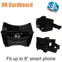 Wholesale 2016 plastic Google Cardboard Virtual Reality Oculus VR Cardboard D Glasses for quot Smart Phone with headmount