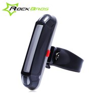Wholesale ROCKBROS Bike Rear Light Waterproof Bicycle Light LED Cycling Taillight Bicicleta Tail Light Safe Warning Light Lamp USB Rechargeable