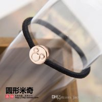 Wholesale Hot sale Korean style girls fashion hair bands high elastic material holders black hair ties accessories