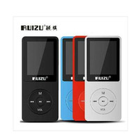 Wholesale DHL fast original Ultrathin GB MP3 Player With Inch Screen Can Play hours Original RUIZU X02 With FM E Book Clock Data