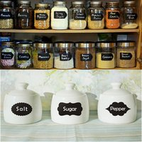 Wholesale A4 Small Chalk Black board Mason Jar Labels Stickers Chalkboard Cheap Unique