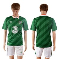 Wholesale Ireland National Team European Championship Soccer Jerseys White Blue HOME AWAY Personalized Custom Make Any Name Any No Free ship