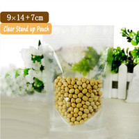 Wholesale 100 x14cm Small Clear Stand Up Pouches With Zipper Clear Zip Lock Bag Food Packaging Pouch