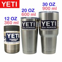 beer mugs gift - 2016 YETI Cups Cooler Stainless Steel Rambler Tumbler Cup Car Vehicle Beer Mugs Vacuum Insulated Mug oz oz oz Christmas gift