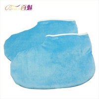 Wholesale Hot Wax Increase Thick Cotton Gloves Can Nail Tool Feet Care Blue Feet Gloves Pair