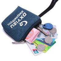 Wholesale Special new zipper canvas wallet wallet wallet to carry convenient and practical wallet key cases