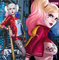 Wholesale 2016 Luxury Harley Quinn Costumes Embroidery Cosplay Suicide Squad Plus Size cheap Ugly Woman Clothing