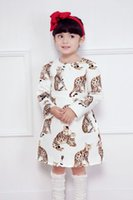 animal dresses for babies - Girl Dress Brand New Cat Print Kids Autuman Princess Dress Stylish Party Dress For Baby Girl With Long Sleeves