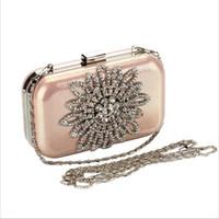 Wholesale Luxury Diamond Mini Women Evening Bags Designer women Clutch bag Chain Rhinestone Wedding Bridal bag ladies women wallet