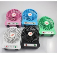 Wholesale USB Portable Fan Mini Cooling Fan Handheld Pocket USB Fan With Rechargeable Battery LED Lamp Outdoor Use