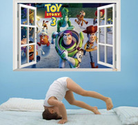 bedroom stories - Toy Story Cartoon Wall Stickers Removable PVC Art Decals Kids Nursery Room Decor in stock