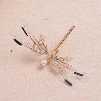 ballet tiara - golden vivid dragonfly fairy wood sea theme tiaras hair decoration party costume accessory ballet stage princess headwear