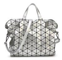 Wholesale New colors Women Fashion BAOBAO Bag Geometry Package Sequins Saser Plain Folding Handbags briefcase Shoulder Bag With Logo