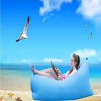 Wholesale Outdoor Adults Single Sofa Inflatable Chair Outdoor Beach Travel Sleep Camping Recliner Quickly Inflated Folding Bean Bag Sofa