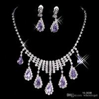 heart wedding jewelry - Fashionable Hot Sale Rhinestone Set Earrings Necklace Cheap New Arrival Wedding Jewelry Accessories B