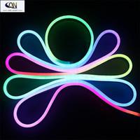 Wholesale 2016 New RGB WS2811 IC Flexible LED Neon Light meter SMD leds M LED Strip Light DC12V Waterproof IP68 LED Outdoor Lighting
