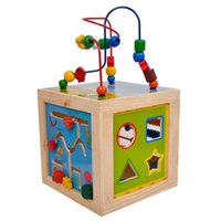 Wholesale Baby Toys Multifunctional Animal Beads Maze Baby Early Learning Toys Clock Blocks Calculation Frame Large Box Gift