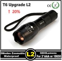 Wholesale E17 CREE XM L2 Lumens cree led Torch Zoomable cree LED Flashlight Torch light For xAAA or x18650