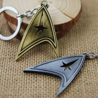 Wholesale Movie Star Trek Keychain Key Chain Key Ring Holder Keyring Porte clef Gift Men Women Souvenirs Bag Pendant Car F
