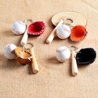 baseball party favors - Fashion Baseball Glove Key Ring Mini Baseball Glove Keychain Pendant For Key Ring Cartoon Keychain Party Favors Xmas Gift F417L