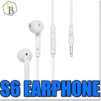 Wholesale For Samsung Galaxy S6 Earphone Headphone In Ear mm For Iphone In Ear Stereo With Mic Remote Volume Control