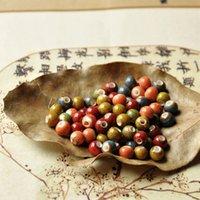 Wholesale 100pcs ball shape porcelain bead with spot for DIY jewelry making beautiful spot bracelet clay bead