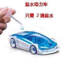 Wholesale strange new toy ideas saline brine powered car DIY educational toys car