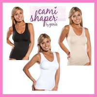 Wholesale Cami shaper by Genie with Removable Pads Look Thinner Instantly the Ultimate in Garment genie bra by fedex