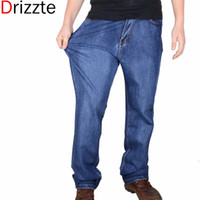 big mens trousers - Drizzte Brand Men Plus Big Size Pants Mens High Stretch Big and Tall Large Trouser Jeans for Men