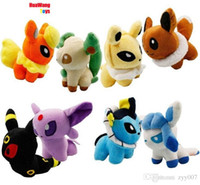 Wholesale pikachu Movie Pocket Styles inch Umbreon Eevee Espeon Jolteon Vaporeon Flareon Glaceon Leafeon Plush Toys stuffed dolls