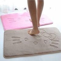 bathroom mats large - 40 CM Hello Kitty Slip resistant Mats Slow Rebound Memory Foam Bath Mat Floor Door Kitchen Prayer Rug