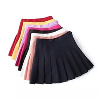 aa college - Europe and American style pleated skirt AA tennis skirt A word skirt tutu College Wind waist sweet half length skirt student Ms