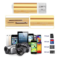 Wholesale All in one USB Multi Memory Card Reader for Micro SD TF M2 MMC SDHC MS Memory Stick