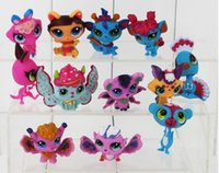 Wholesale 2lot Littlest Pet Shop LPS Animals Figures Toy PVC Action Figure Collectable Model Toy for kids gift