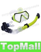 Wholesale LAI New Colors Scuba Diving Mask Goggles Swimming Diving Snorkeling Equipment mm Toughened Tempered Glass Full Dry Snorkel Set H10103 H10