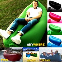 Wholesale Lamzac Hangout Fast Inflatable Lounger Air Sleep Camping Sofa KAISR Beach Nylon Fabric Sleeping Bag Bed Lazy Chair Ourdoor Color NEW