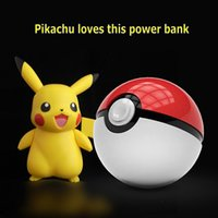 ball cable - Arrivel Pokemons Go Funny Power Bank Magic Ball Charger Double USB Port A Fast Charger Retail Box USB Cable