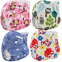 baby changing cover - Washable Diapers Couches Lavables Baby Diaper Cover Wrap Cartoon Print Baby Nappy Changing Reusable Baby Cloth Diapers