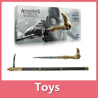 action figure costumes - Assassins Creed Syndicate Gauntlet Hidden Blade Cane Action Figure Edward Kenway Cosplay Costume New With Retail Box