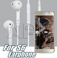 Wholesale 3 mm In Ear Samsung S7 Wired Earphones Earbuds Headset With Mic Remote Volume Control Headphones For Galaxy S6 S6 Edge S7 With Packaging