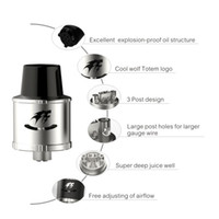 bear totem - 100 Original SMY Totem Black stainless steel RDA Tank Totem with Tank Rebuildable atomizer totem with Super Wide Bore DHL Free