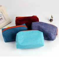 barrel making tools - New Simple Canvas Cosmetic Bags Makeup Case Travel Toiletry Lady Make Up Tool Clutch Handbag Cotton Pouch Storage Organizer Bags