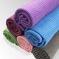 Wholesale Trendy Non Slip Yoga Mat Cover Towel Sport Fitness Exercise Workout Towel Blanket Pilates Sports Comfy Towel x61CM MD0027