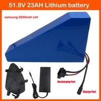 Wholesale 51 V AH AH Lithium battery triangle shape W V AH S Electric Bike battery use samsung mah cell W