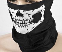 Wholesale fashion magic prop Polyester bicycle mask warm washcloth Halloween skull cycling