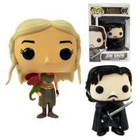 action games - DHL Ship Funko POP Game of Thrones Daenerys Targaryen Action Figure Jon Snow cm GOT Character Doll