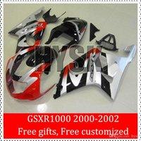 OEM de la aduana del carenado libre Kits de Suzuki GSXR1000 GSX-R 1000 GSXR 1000 2000 2001 2002 00 01 02 K2 Negro Rojo Plata ABS Racing carenados