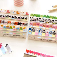 Wholesale 6 Cartoon animal memo paper One point marker Post it sticky notes zakka stationery office supplies School supplies
